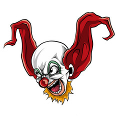Face evil killer clown vector