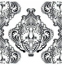 Floral pattern in Indian style vector