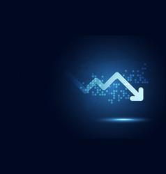 Futuristic drop arrow chart digital vector