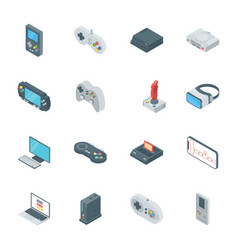 Gaming gadgets icons vector