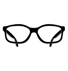 Glasses black flat drawing front view vector