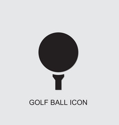 Golf ball icon vector