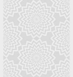 gray circular zigzag lines flowers with a vector image