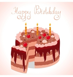 Happy cake vector
