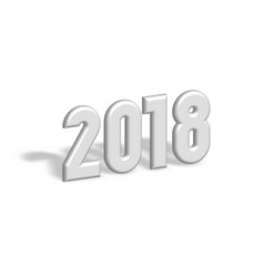 happy new year 2018 modern design element 3d vector image vector image
