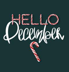Hello december - creative poster vector