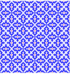 hmong pattern seamless texture background blue vector image
