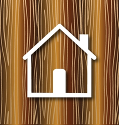 House concept wood background vector image