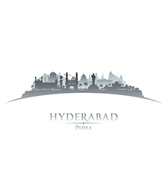 Hyderabad India city skyline silhouette vector