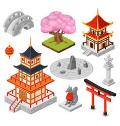 Isometric japan cartoon 3d vector
