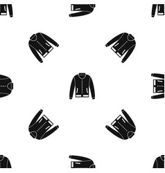 jacket pattern seamless black vector image