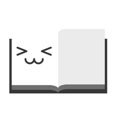 kawaii open notebook vector image