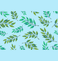 laurel twigs seamless pattern vector image