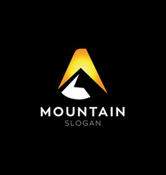 letter a mountain logo vector image