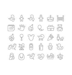 line icons childbirth vector image