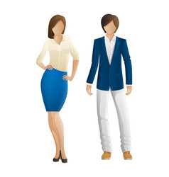 man and woman faceless models new collection vector image
