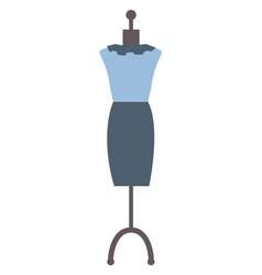 mannequin presentation classy blue dress vector image