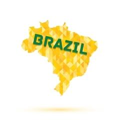 Map brazil vector