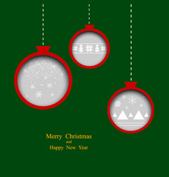 merry christmas poster or flyer christmas tree vector image