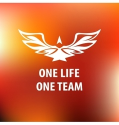 Motto slogan sports team one life one team vector
