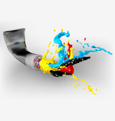 Paint and tube vector