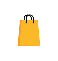 paper bag commerce shopping flat image icon vector image