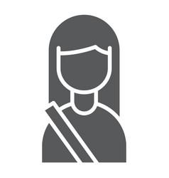 passenger glyph icon human and taxi girl sign vector image