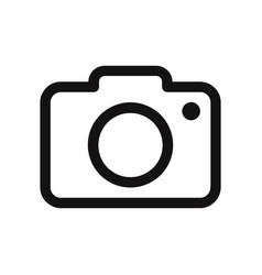 photo camera icon vector image