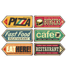 retro signs collection vector image