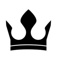 Roayl crown icon vector