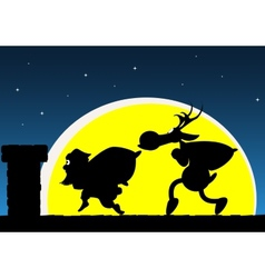 Santas visit vector image
