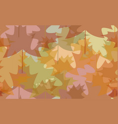 Seamless pattern abstract autumn leaves vector