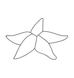 seastar icon in outline style isolated on white vector image