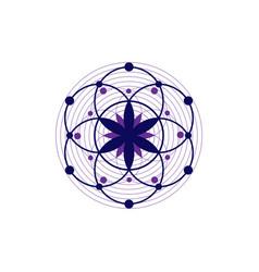 seed life symbol sacred geometry logo icon vector image