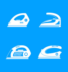 Smoothing iron drag icons set simple style vector