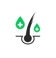 Split ends hair care simple logo vector