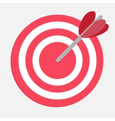 Target with heart arrow vector