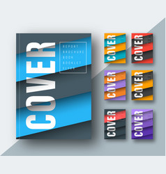 template of a modern cover with diagonal colored vector image