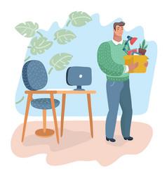 unemployment crisis jobless man vector image
