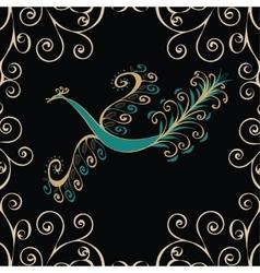 Vintage fairy bird vector image