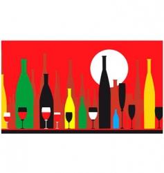 Wine parlour vector