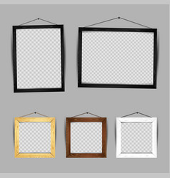 wooden frame gallery set vector image vector image