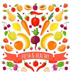 colorful vegetables and vector image vector image