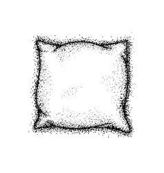 dotwork bed pillow vector image vector image