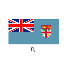 fiji flag vector image vector image