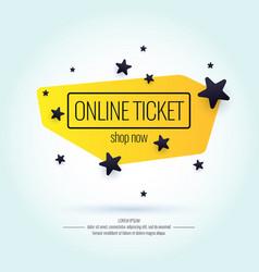 modern poster sale online tickets vector image vector image