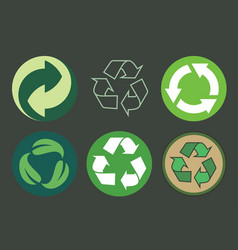 recycling symbols vector image
