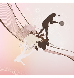 tennis girl with stains and blots vector image
