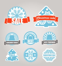 Winter discount labels set vector image vector image