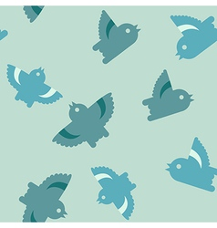 Bird seamless pattern vector image vector image